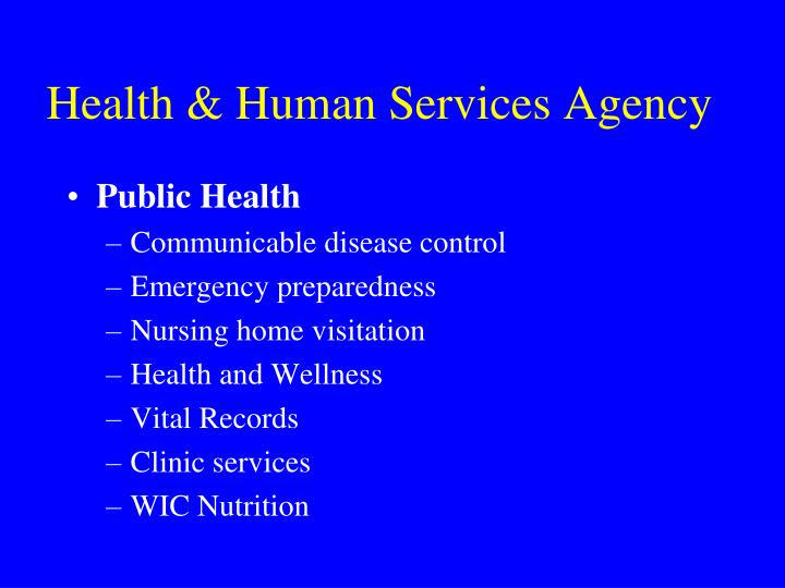 Health human services agency1