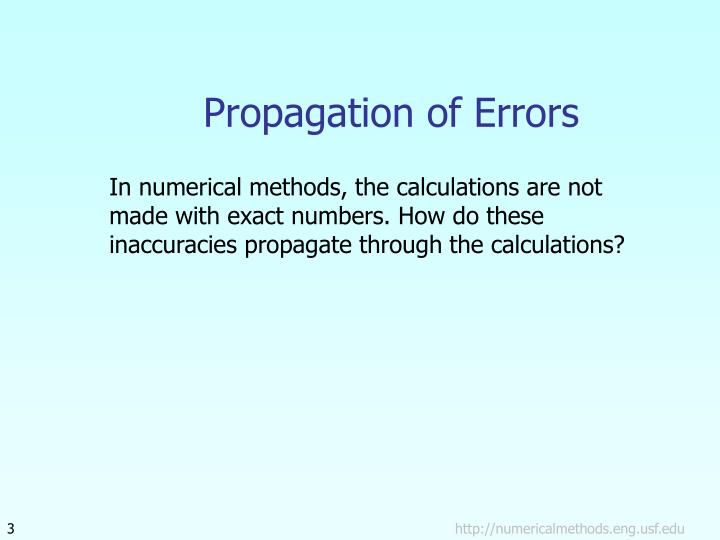 Propagation of errors1
