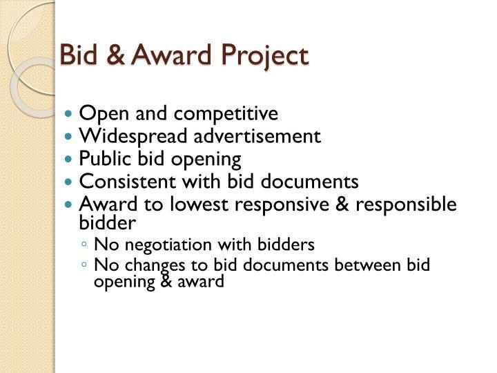 Bid & Award Project