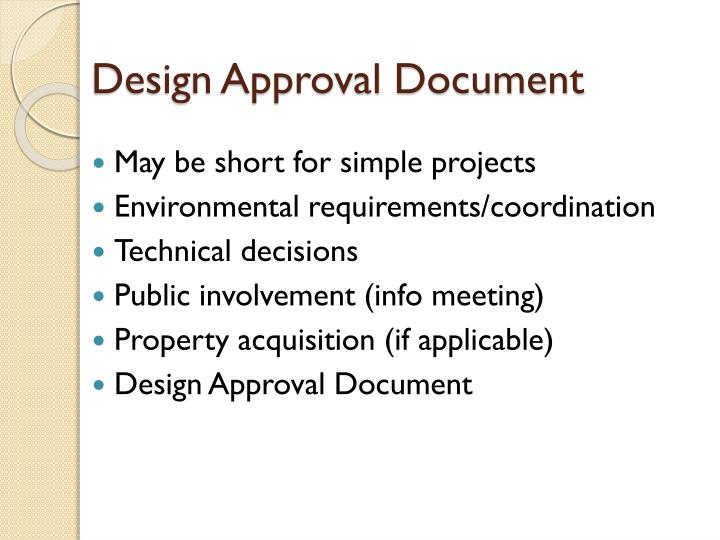 Design Approval Document