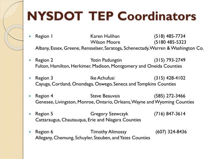 NYSDOT  TEP Coordinators