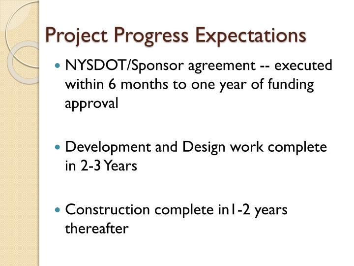 Project Progress Expectations