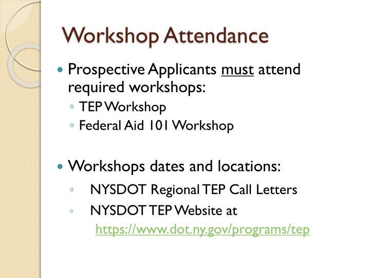 Workshop Attendance