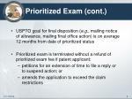 prioritized exam cont