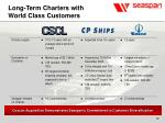 long term charters with world class customers