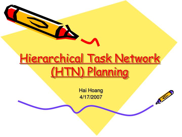 hierarchical task network htn planning n.