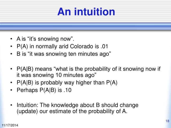 An intuition