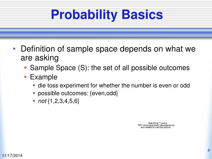 Probability Basics