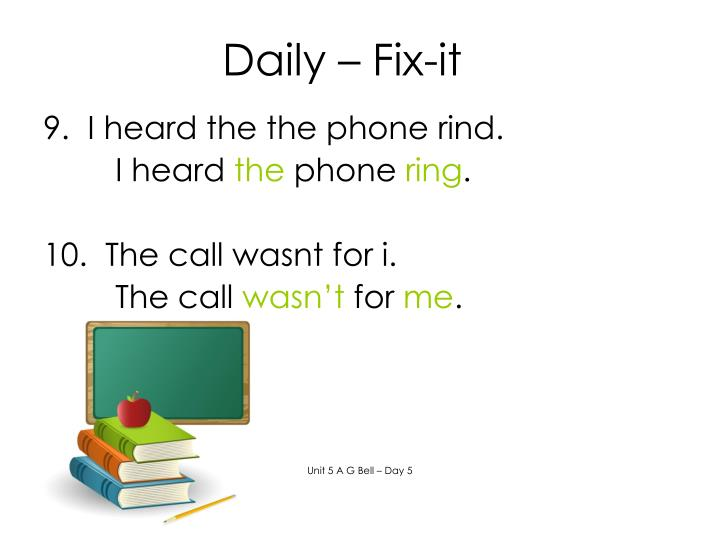 Daily – Fix-it