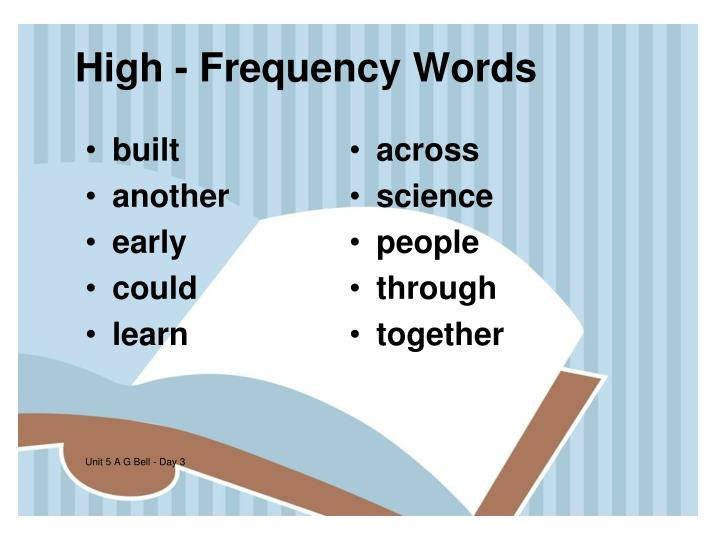 High - Frequency Words