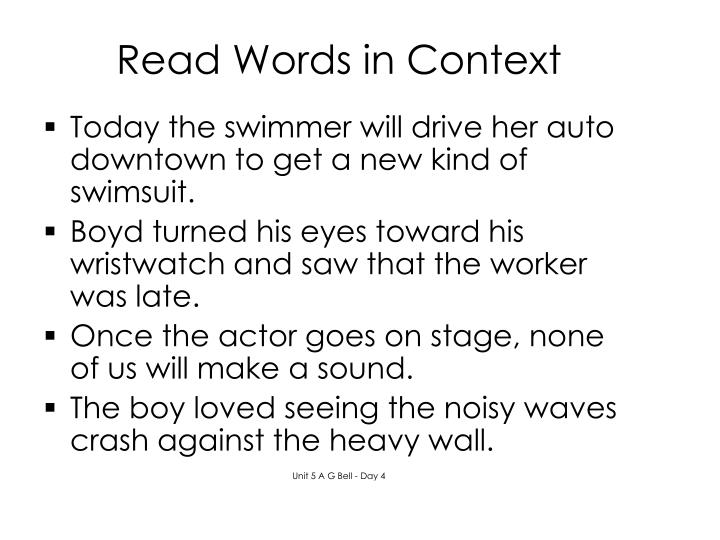 Read Words in Context