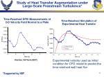 study of heat transfer augmentation under large scale freestream turbulence