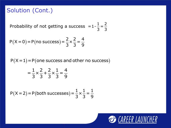 Probability of not getting a success