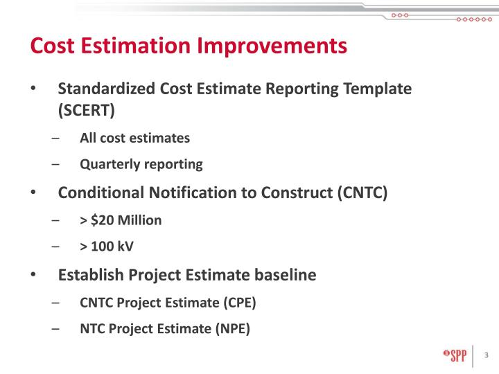 Cost estimation improvements