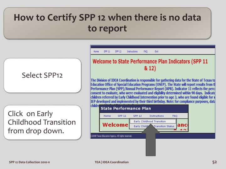 How to Certify SPP 12 when there is no data to report