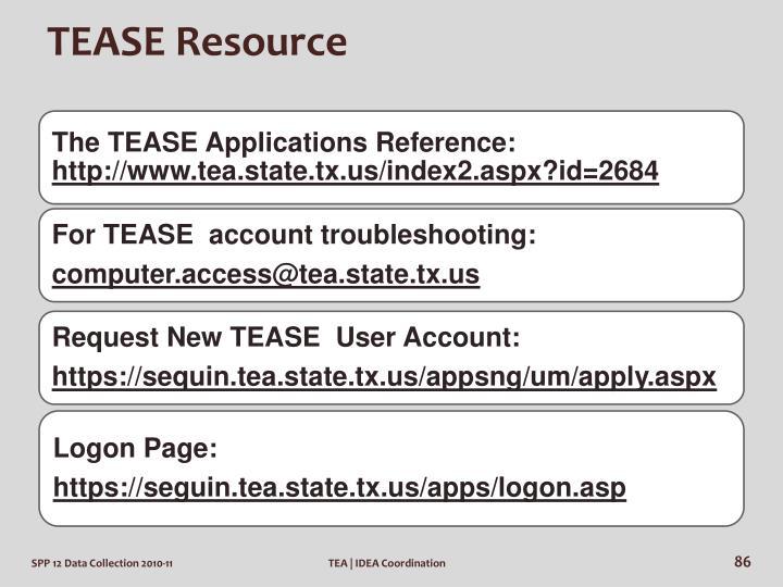 TEASE Resource