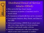 distributed denial of service attacks ddos