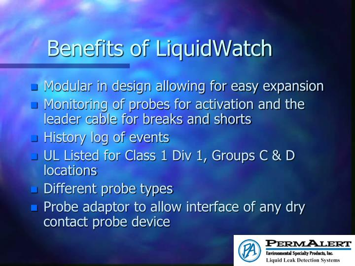 Benefits of LiquidWatch
