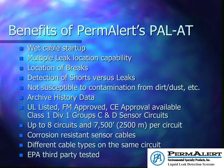 Benefits of PermAlert's PAL-AT