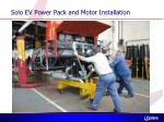 solo ev power pack and motor installation1