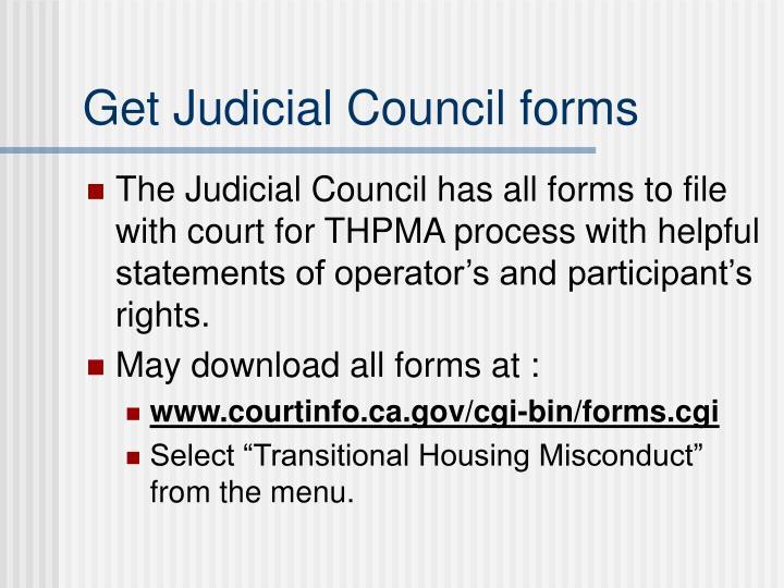Get Judicial Council forms