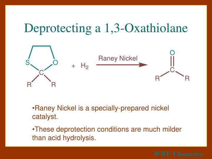Deprotecting a 1,3-Oxathiolane