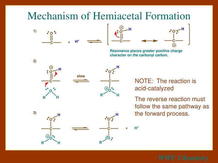 Mechanism of Hemiacetal Formation