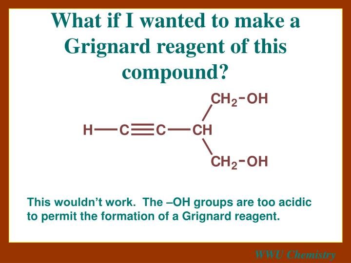 What if I wanted to make a Grignard reagent of this compound?