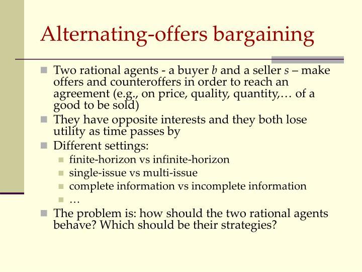Alternating offers bargaining