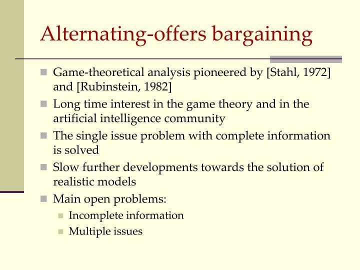 Alternating-offers bargaining