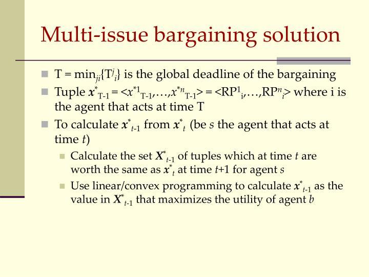 Multi-issue bargaining solution