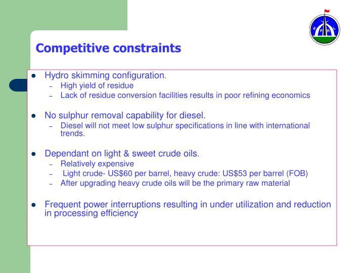 Competitive constraints