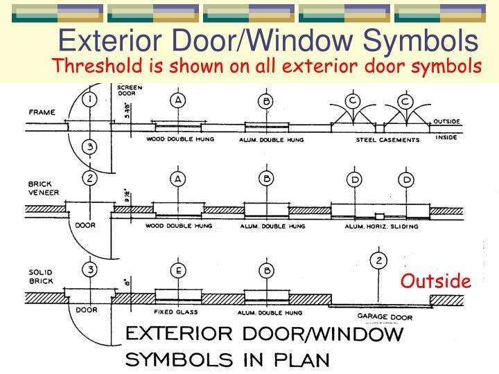 Exterior Door/Window Symbols