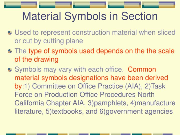 Material Symbols in Section