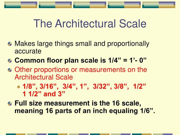 The Architectural Scale