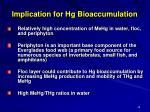 implication for hg bioaccumulation