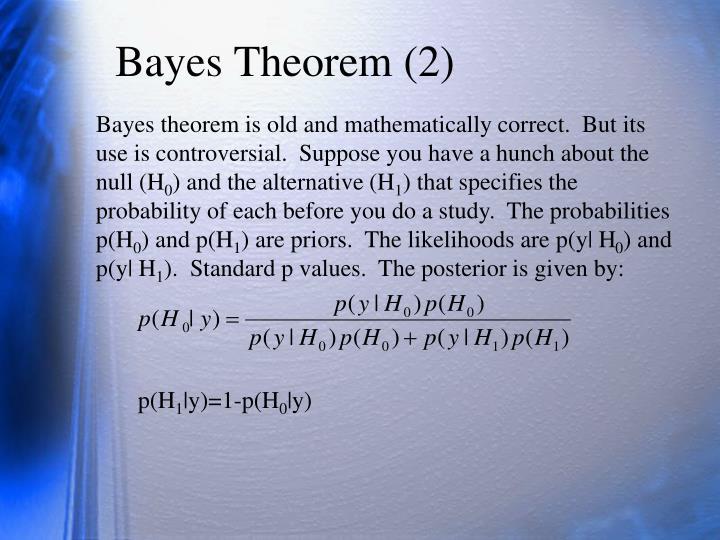 Bayes Theorem (2)