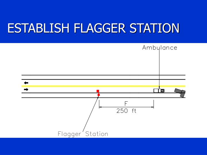 ESTABLISH FLAGGER STATION