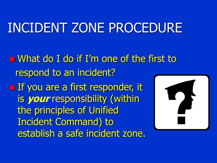 INCIDENT ZONE PROCEDURE