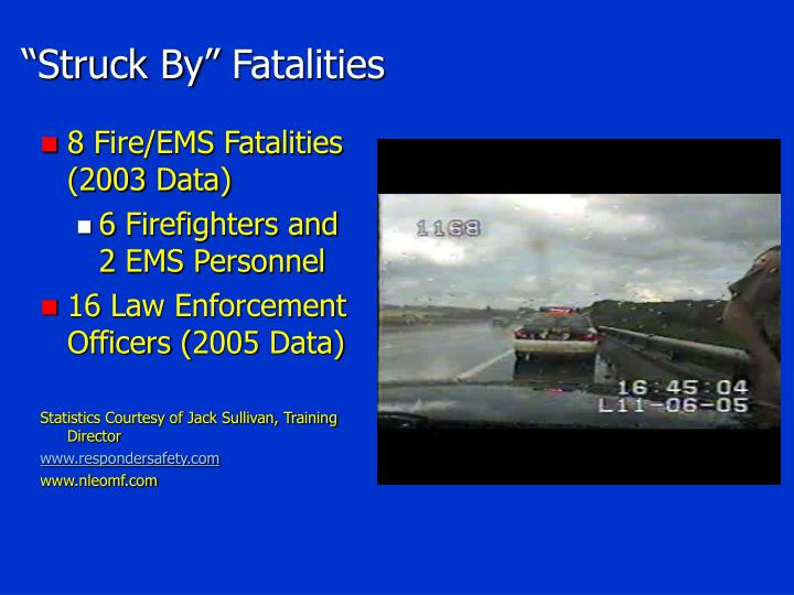 """Struck By"" Fatalities"