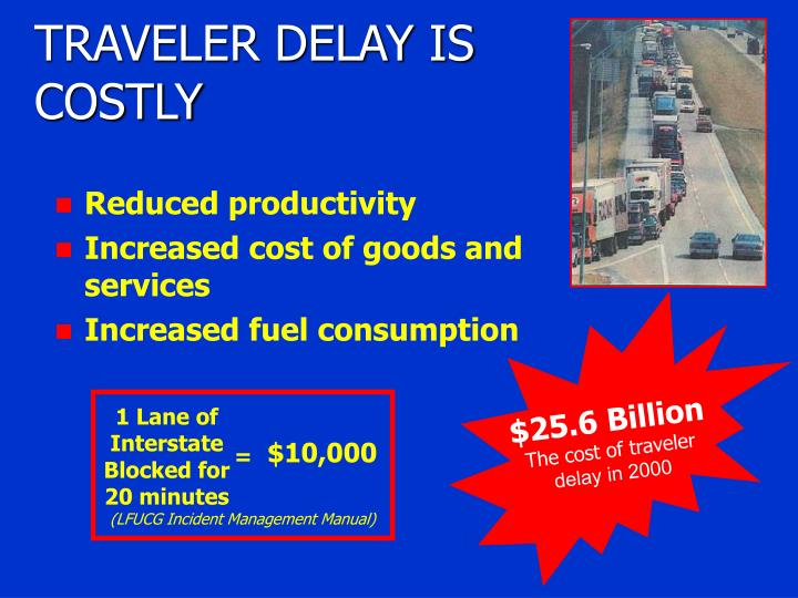 TRAVELER DELAY IS COSTLY