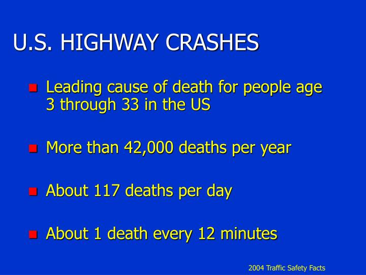 U.S. HIGHWAY CRASHES