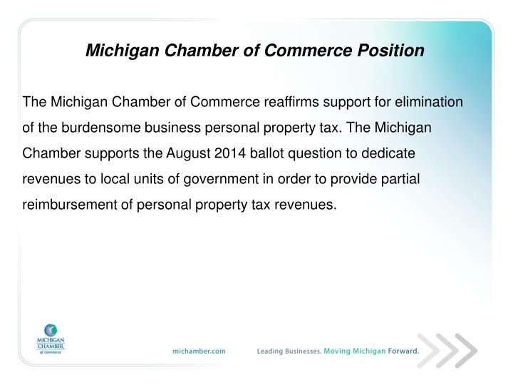 Michigan Chamber of Commerce Position