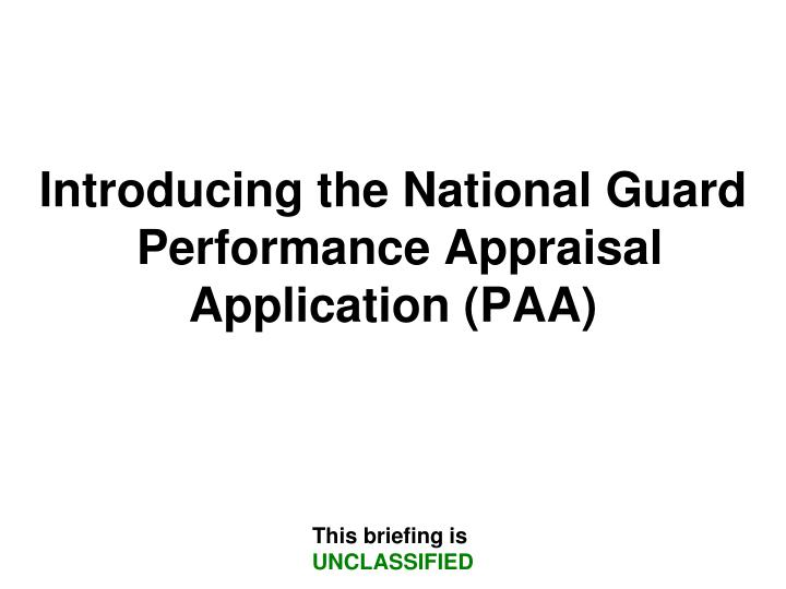 Introducing the National Guard