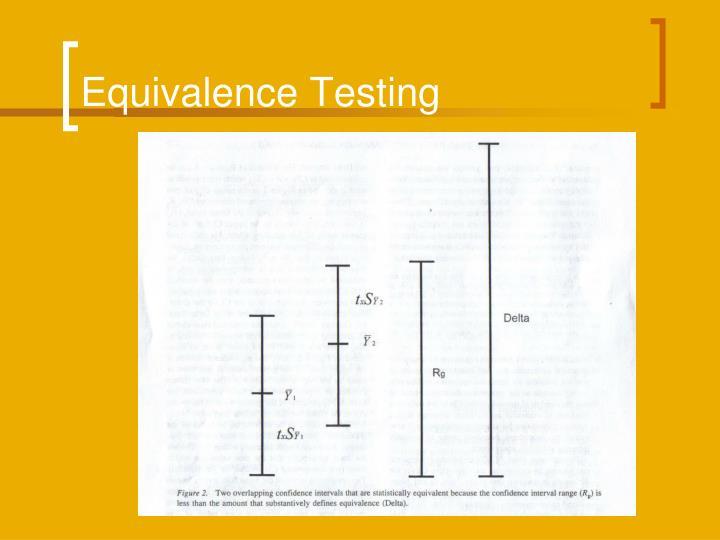 Equivalence Testing