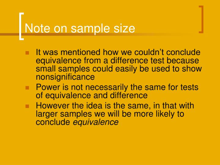 Note on sample size