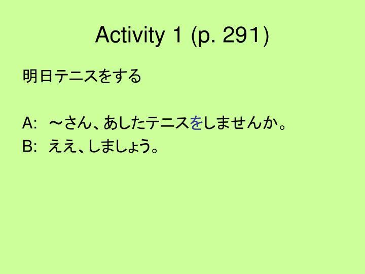 Activity 1 (p. 29