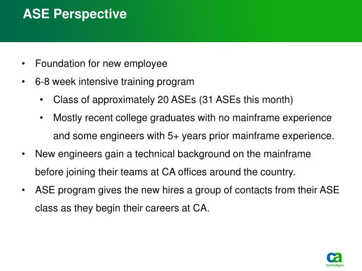 ASE Perspective