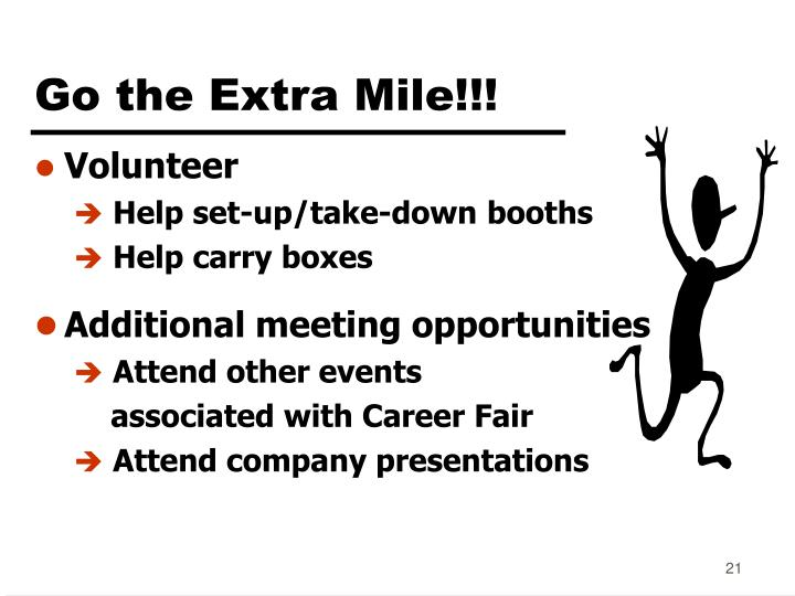 Go the Extra Mile!!!