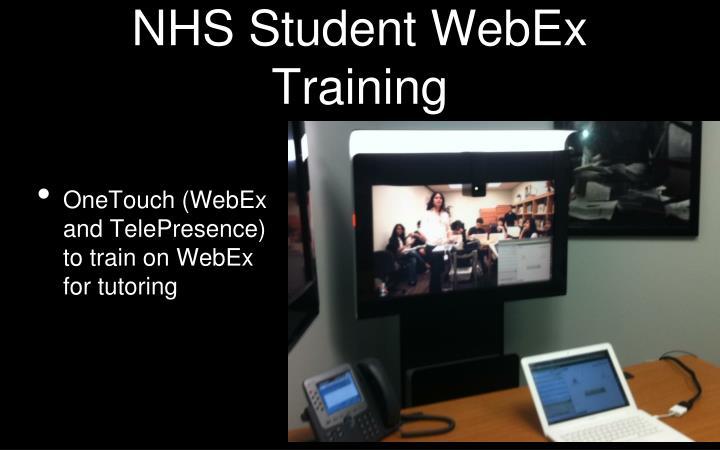 NHS Student WebEx Training